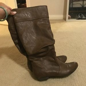 Leather Knee high boots - Taupe size 6.5